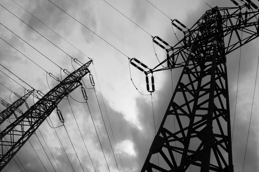 Pylons of electricity