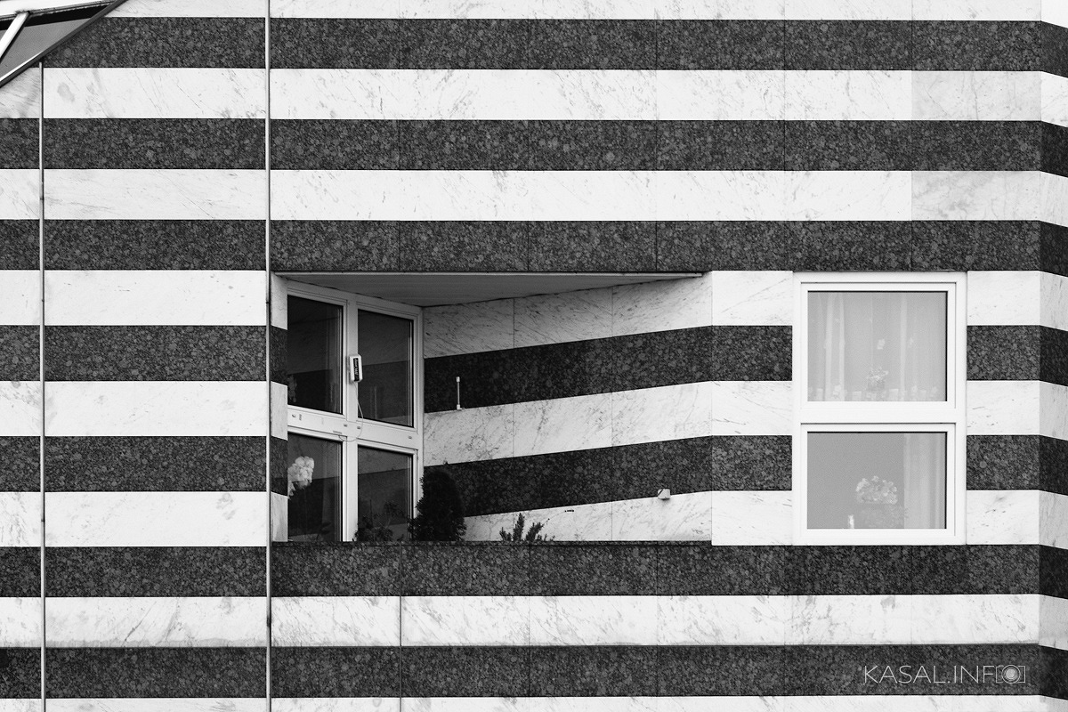 Striped facade